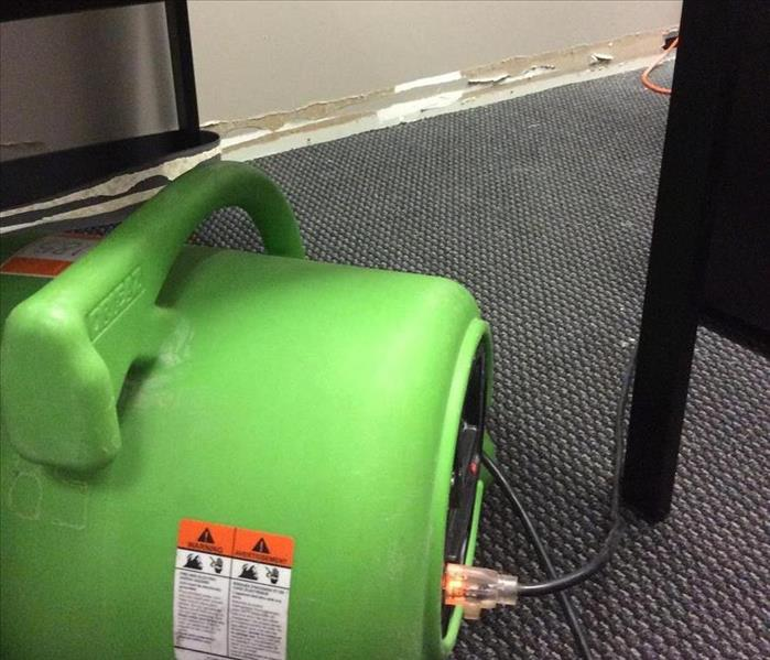 SERVPRO Dryer at commercial office water damage site